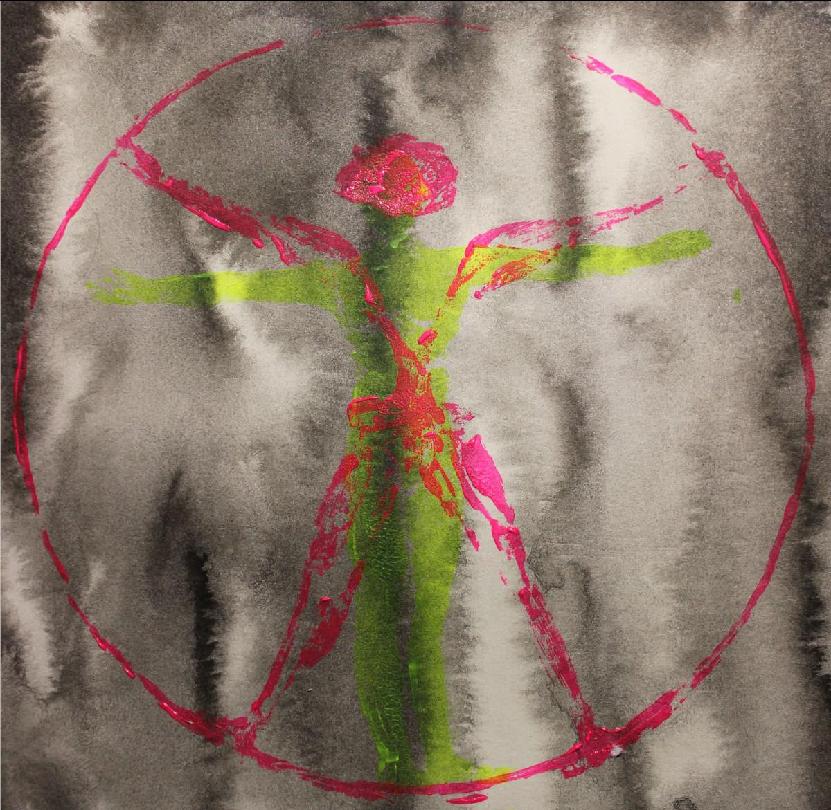dystopia is fun cover art: zwei Menschen in einem Kreis.